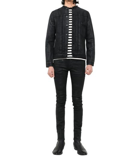 HL HEDDIE LOVU(エイチエル・エディールーヴ)のCOLLARLESS DENIM JACKET-BLACK(ジャケット/jacket)-18S94007-13 詳細画像1
