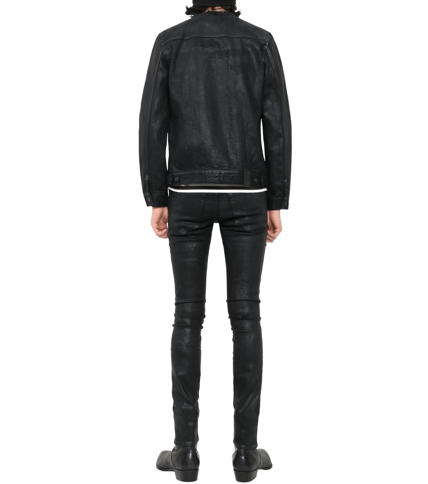 HL HEDDIE LOVU(エイチエル・エディールーヴ)のCOLLARLESS DENIM JACKET-BLACK(ジャケット/jacket)-18S94007-13 拡大詳細画像2