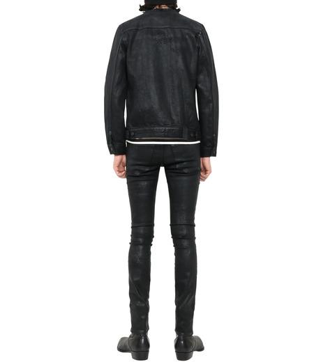 HL HEDDIE LOVU(エイチエル・エディールーヴ)のCOLLARLESS DENIM JACKET-BLACK(ジャケット/jacket)-18S94007-13 詳細画像2