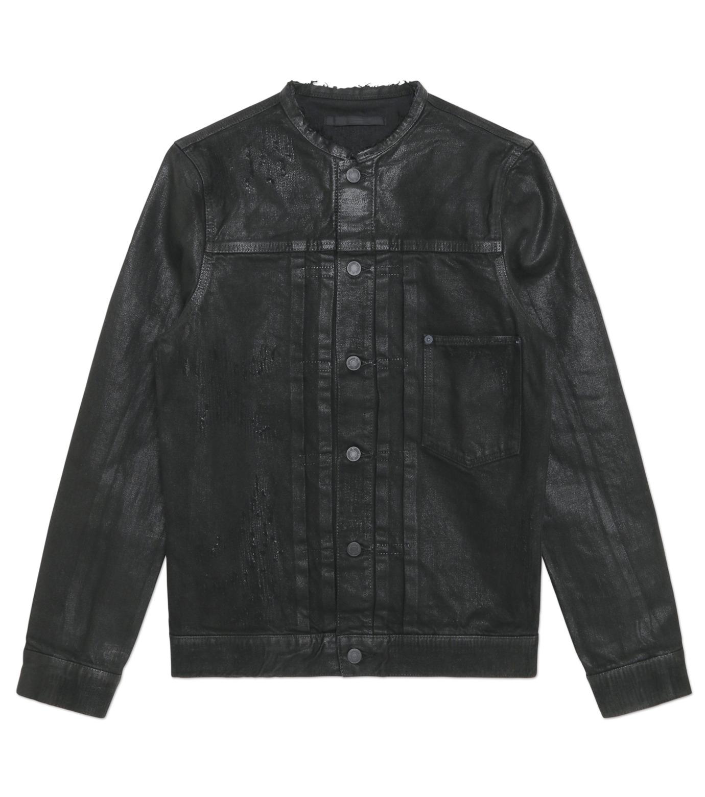 HL HEDDIE LOVU(エイチエル・エディールーヴ)のCOLLARLESS DENIM JACKET-BLACK(ジャケット/jacket)-18S94007-13 拡大詳細画像3