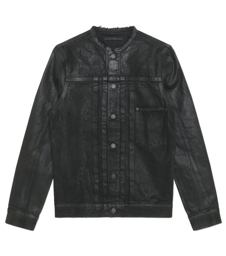 HL HEDDIE LOVU(エイチエル・エディールーヴ)のCOLLARLESS DENIM JACKET-BLACK(ジャケット/jacket)-18S94007-13 詳細画像3