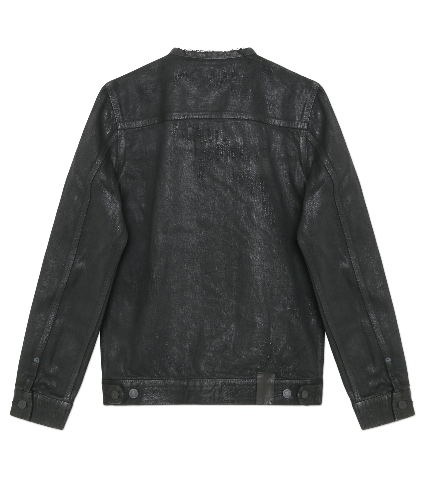 HL HEDDIE LOVU(エイチエル・エディールーヴ)のCOLLARLESS DENIM JACKET-BLACK(ジャケット/jacket)-18S94007-13 拡大詳細画像4
