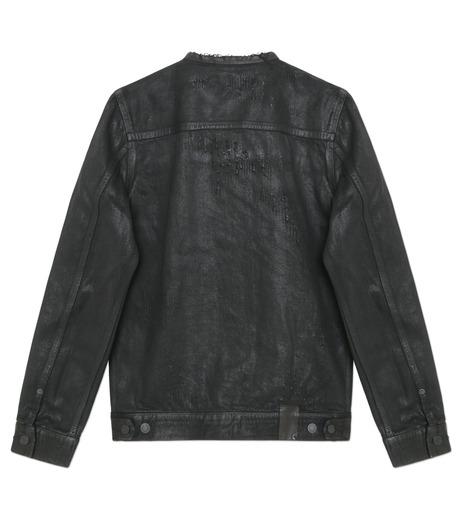 HL HEDDIE LOVU(エイチエル・エディールーヴ)のCOLLARLESS DENIM JACKET-BLACK(ジャケット/jacket)-18S94007-13 詳細画像4