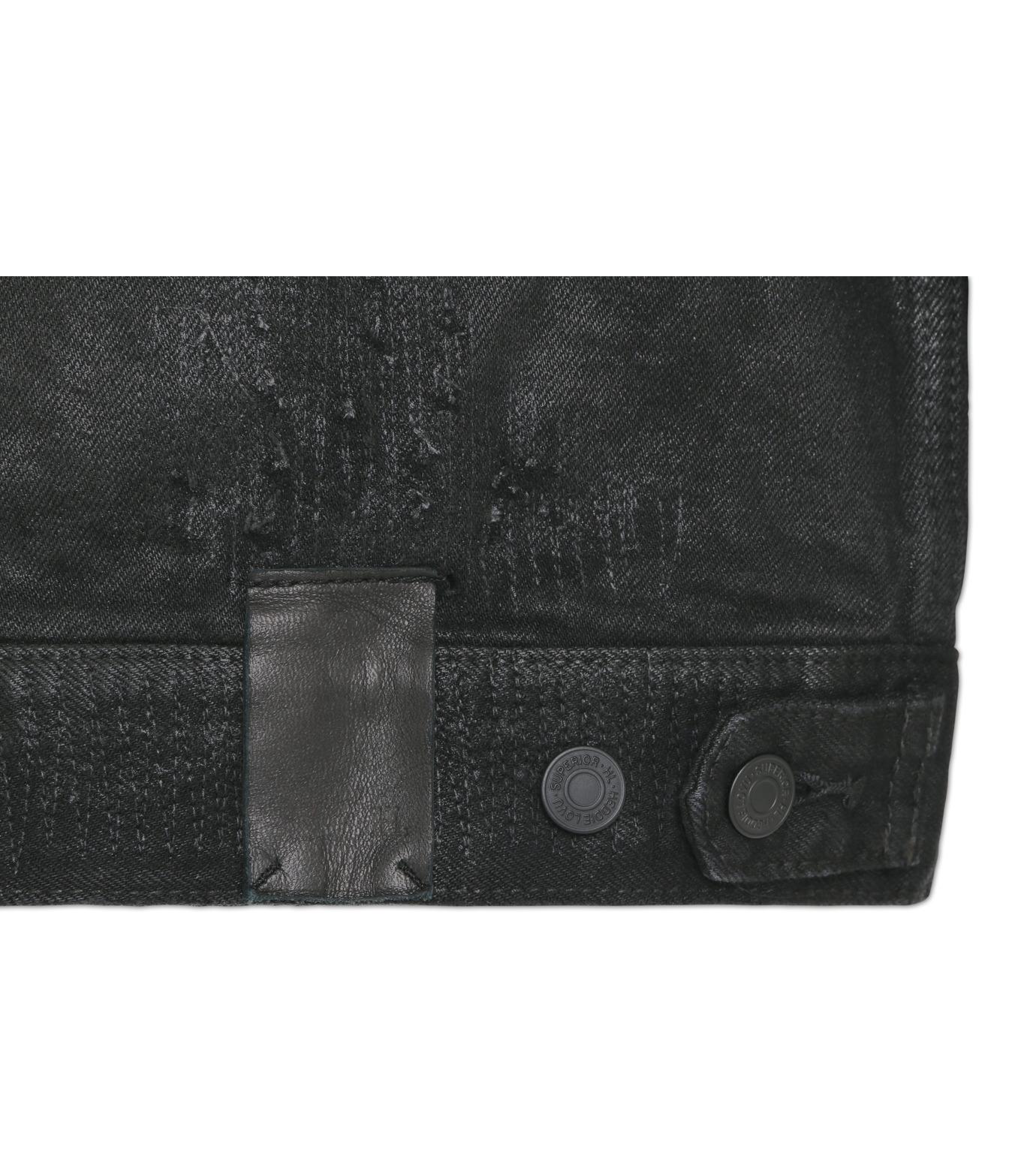 HL HEDDIE LOVU(エイチエル・エディールーヴ)のCOLLARLESS DENIM JACKET-BLACK(ジャケット/jacket)-18S94007-13 拡大詳細画像5
