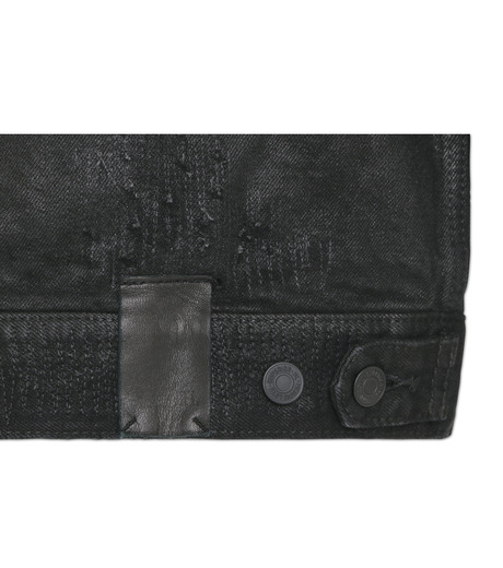 HL HEDDIE LOVU(エイチエル・エディールーヴ)のCOLLARLESS DENIM JACKET-BLACK(ジャケット/jacket)-18S94007-13 詳細画像5