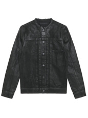 HL HEDDIE LOVU COLLARLESS DENIM JACKET