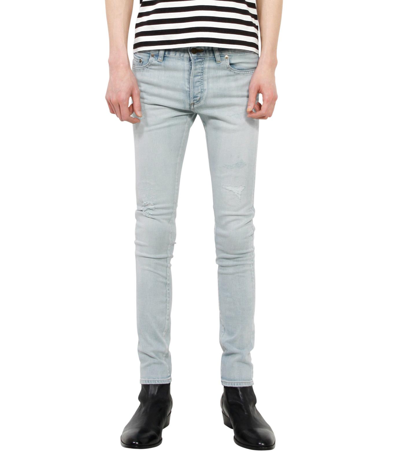 HL HEDDIE LOVU(エイチエル・エディールーヴ)のbleach skin slim-LIGHT BLUE(パンツ/pants)-18S98001-91 拡大詳細画像1
