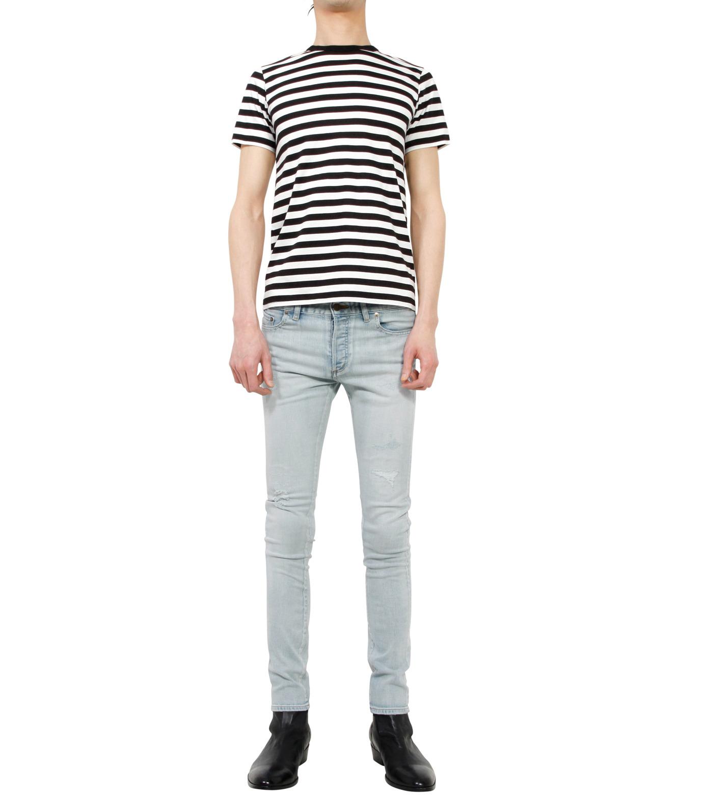 HL HEDDIE LOVU(エイチエル・エディールーヴ)のbleach skin slim-LIGHT BLUE(パンツ/pants)-18S98001-91 拡大詳細画像3