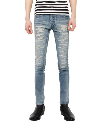 HL HEDDIE LOVU(エイチエル・エディールーヴ)のind damage3 skin slim-BLUE(パンツ/pants)-18S98002-92 詳細画像1