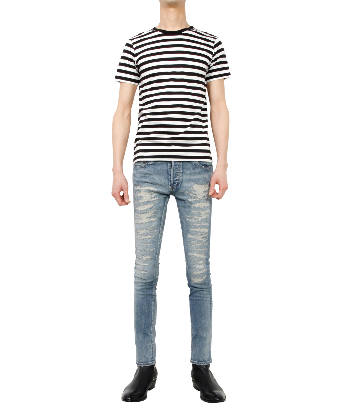 HL HEDDIE LOVU(エイチエル・エディールーヴ)のind damage3 skin slim-BLUE(パンツ/pants)-18S98002-92 拡大詳細画像3