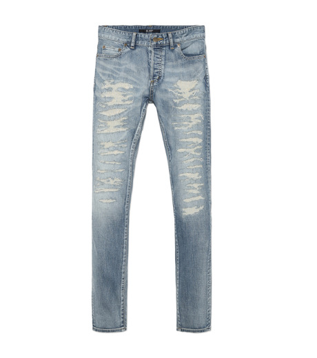 HL HEDDIE LOVU(エイチエル・エディールーヴ)のind damage3 skin slim-BLUE(パンツ/pants)-18S98002-92 詳細画像4