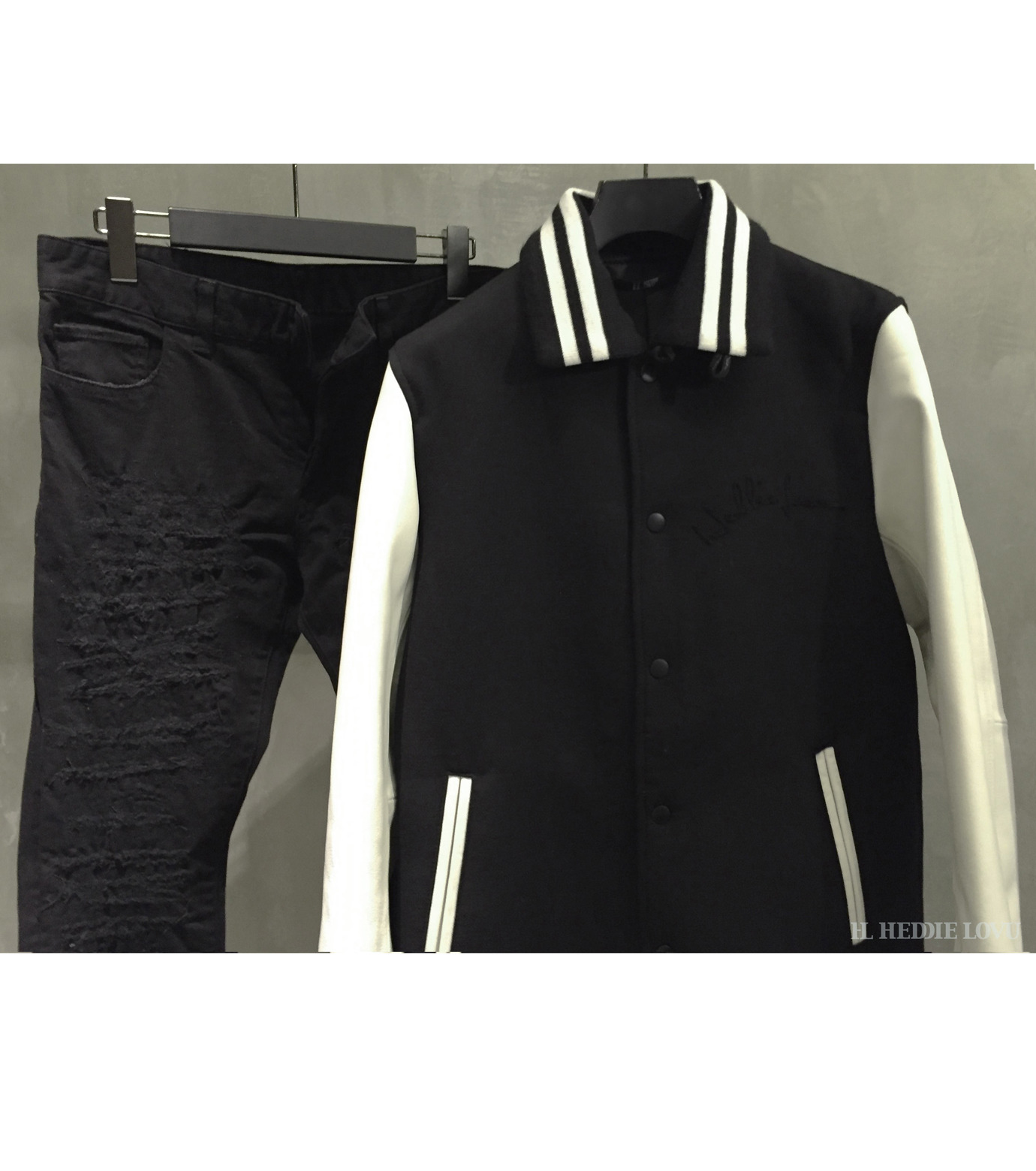 HL HEDDIE LOVU(エイチエル・エディールーヴ)のLONG STADIUM JAC-WHITE(ジャケット/jacket)-18S99002-4 拡大詳細画像5