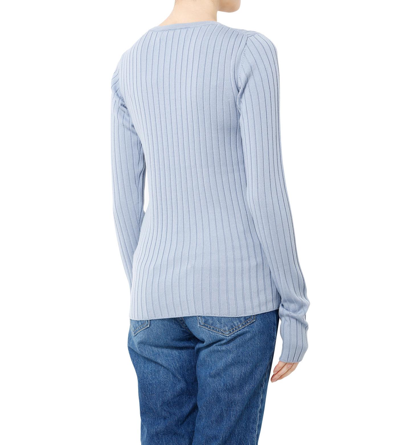 LE CIEL BLEU(ルシェルブルー)のリブニット-LIGHT BLUE(ニット/knit)-19S61106 拡大詳細画像4