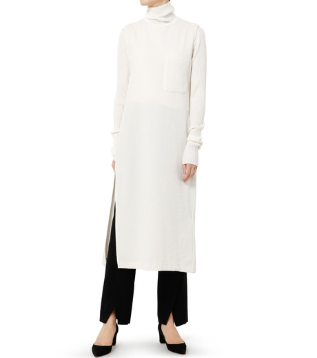 LE CIEL BLEU(ルシェルブルー)のベロアチュニックドレス-WHITE(トップス/tops)-19S62102 詳細画像2