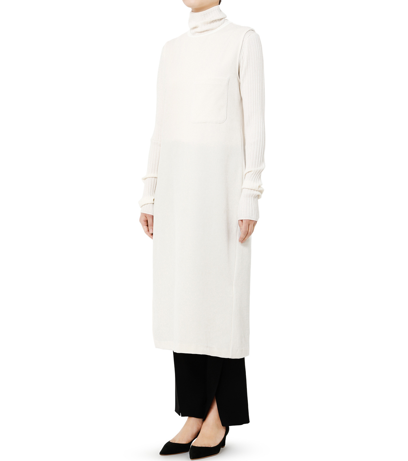 LE CIEL BLEU(ルシェルブルー)のベロアチュニックドレス-WHITE(トップス/tops)-19S62102 拡大詳細画像3