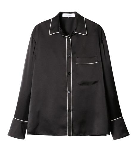 LE CIEL BLEU(ルシェルブルー)のパジャマルックシャツ-BLACK(シャツ/shirt)-19S63101 詳細画像1