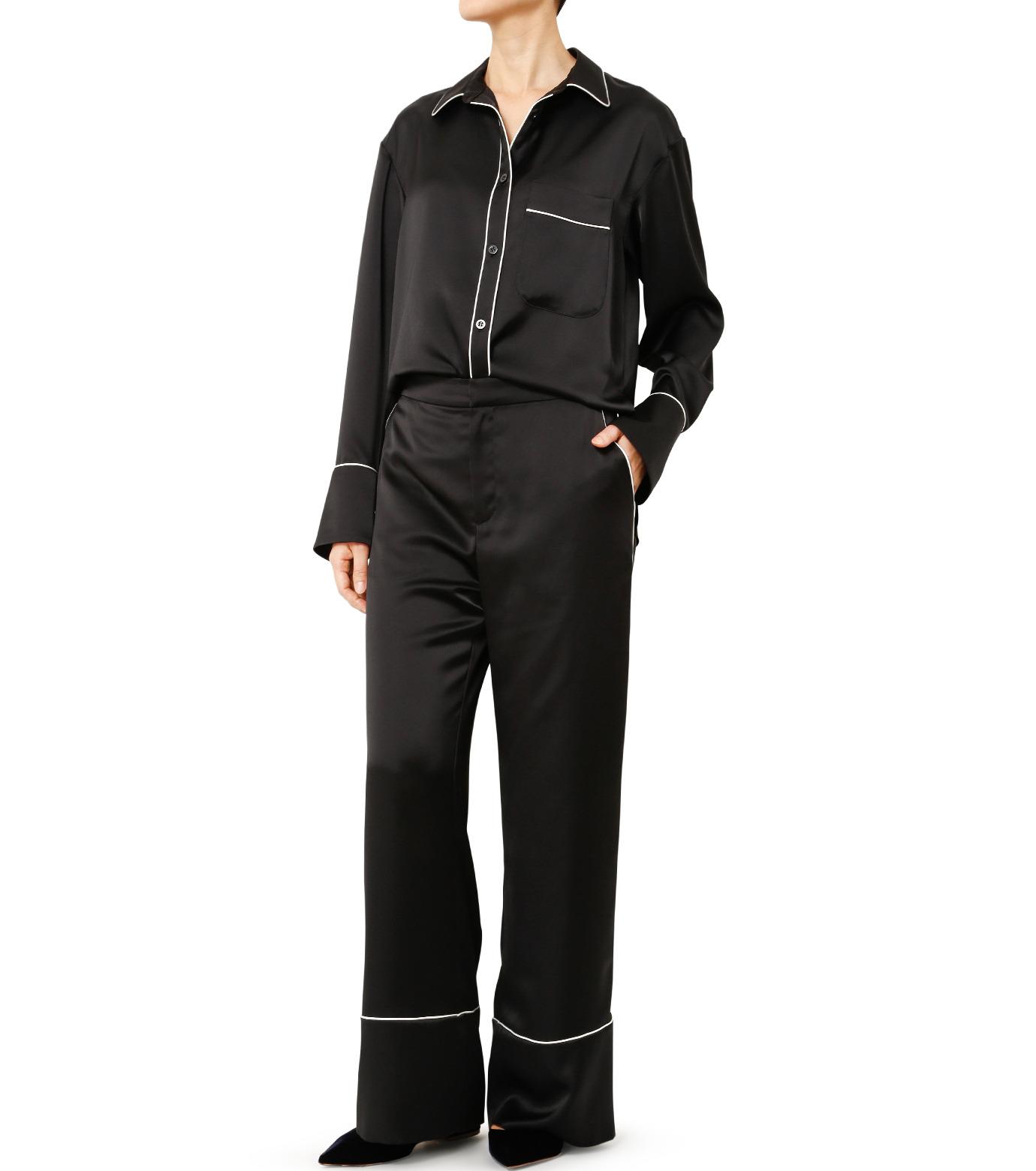LE CIEL BLEU(ルシェルブルー)のパジャマルックシャツ-BLACK(シャツ/shirt)-19S63101 拡大詳細画像2