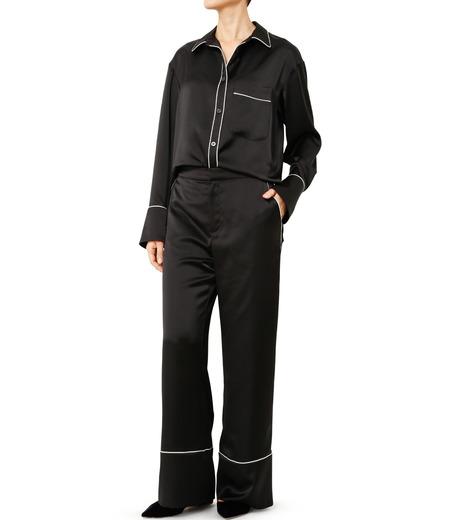 LE CIEL BLEU(ルシェルブルー)のパジャマルックシャツ-BLACK(シャツ/shirt)-19S63101 詳細画像2