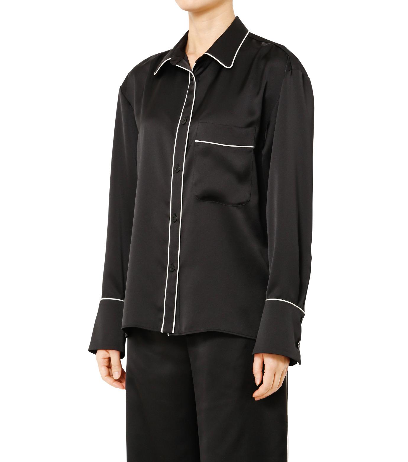 LE CIEL BLEU(ルシェルブルー)のパジャマルックシャツ-BLACK(シャツ/shirt)-19S63101 拡大詳細画像3