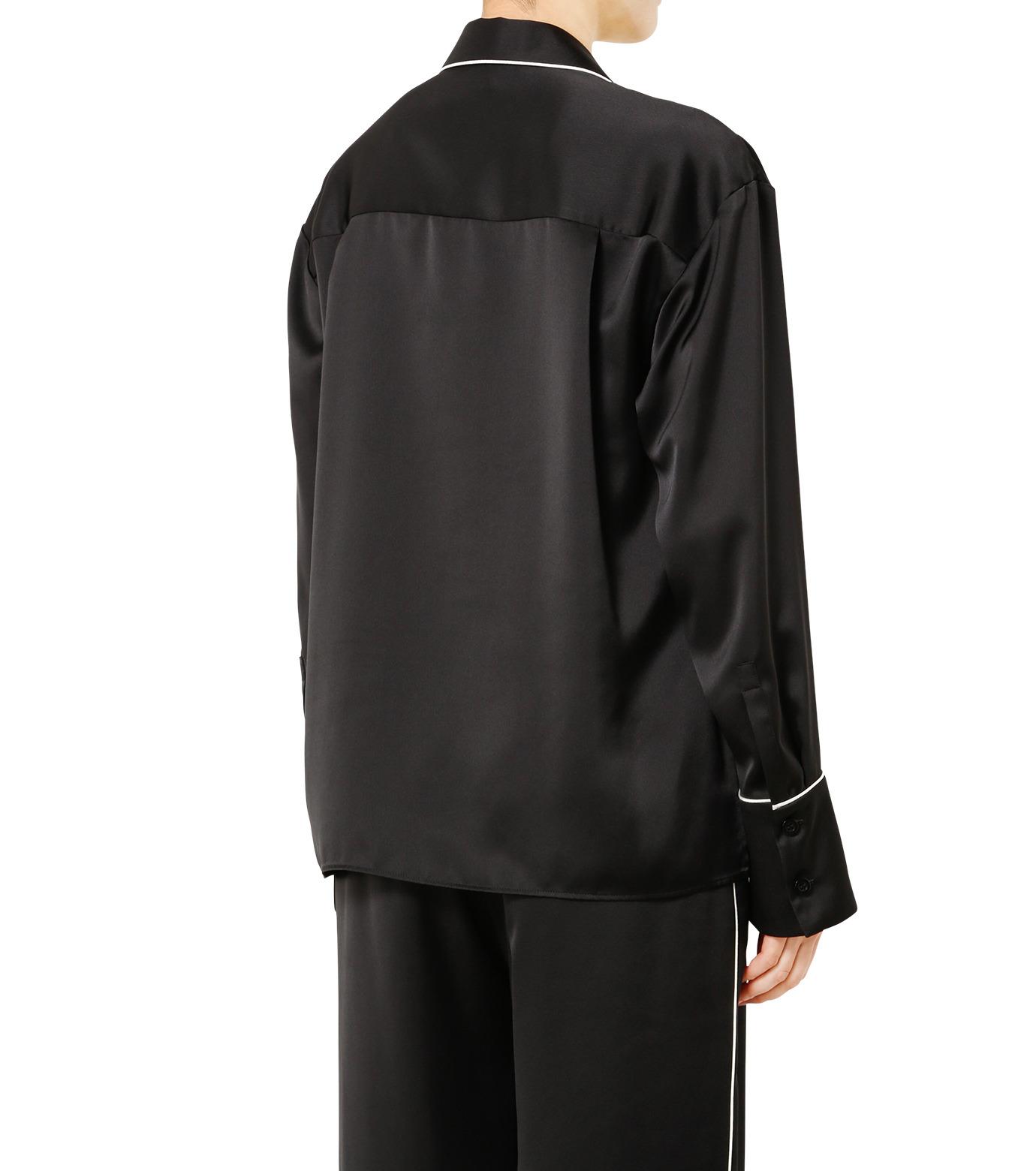 LE CIEL BLEU(ルシェルブルー)のパジャマルックシャツ-BLACK(シャツ/shirt)-19S63101 拡大詳細画像4