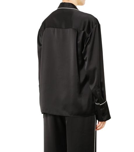 LE CIEL BLEU(ルシェルブルー)のパジャマルックシャツ-BLACK(シャツ/shirt)-19S63101 詳細画像4