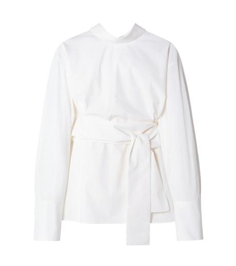 LE CIEL BLEU(ルシェルブルー)のバックオープンシャツ-WHITE(シャツ/shirt)-19S63103 詳細画像1