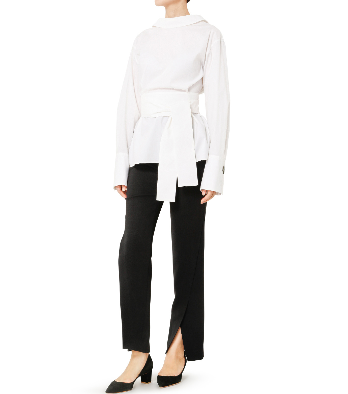 LE CIEL BLEU(ルシェルブルー)のバックオープンシャツ-WHITE(シャツ/shirt)-19S63103 拡大詳細画像2