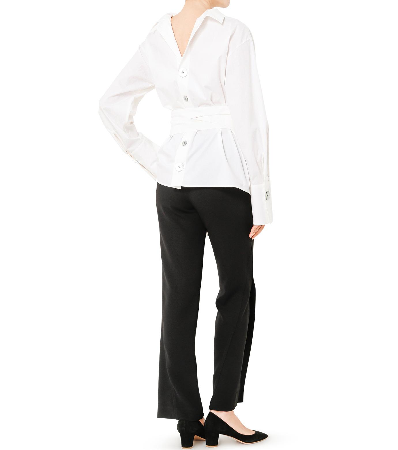 LE CIEL BLEU(ルシェルブルー)のバックオープンシャツ-WHITE(シャツ/shirt)-19S63103 拡大詳細画像3