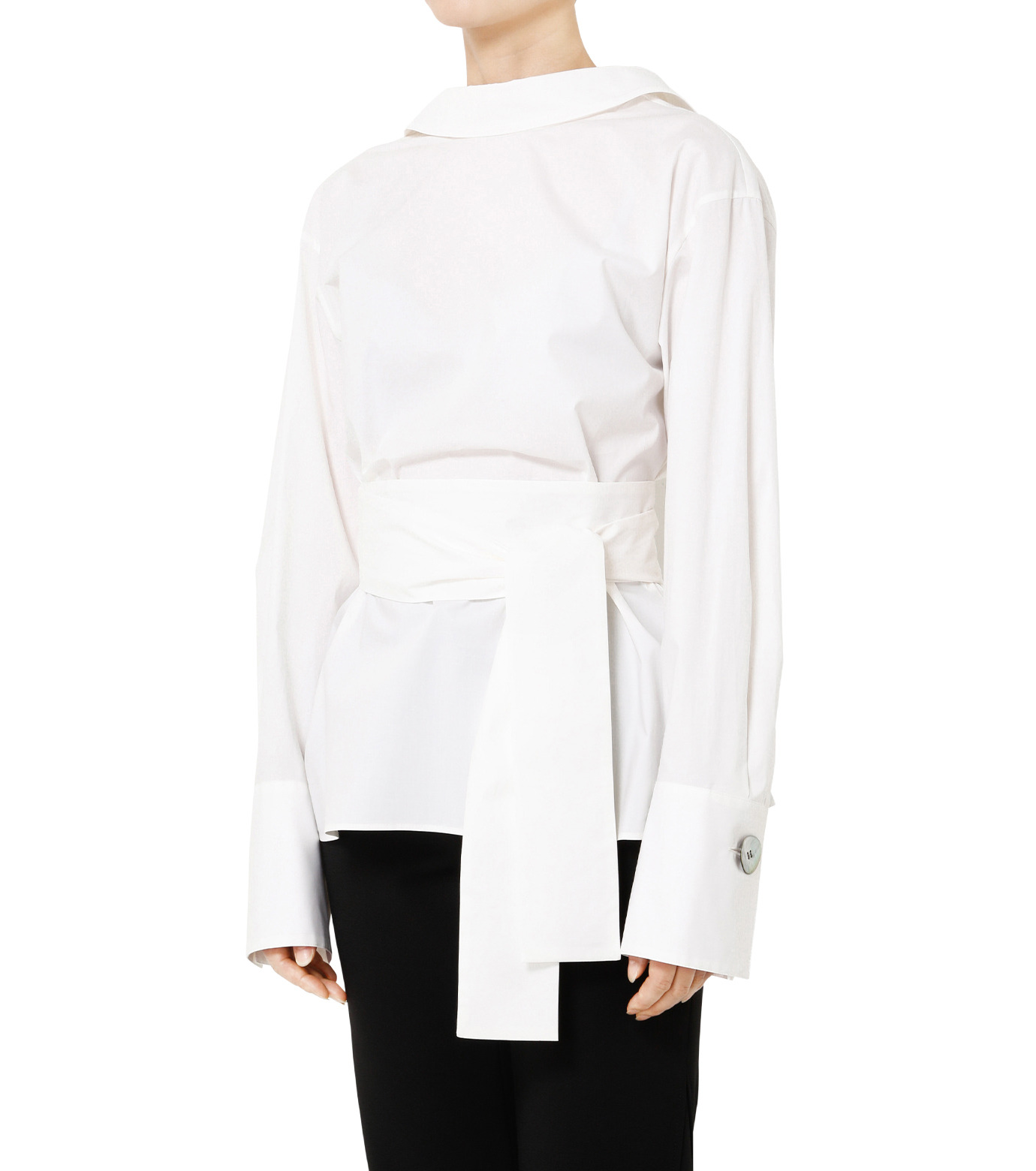 LE CIEL BLEU(ルシェルブルー)のバックオープンシャツ-WHITE(シャツ/shirt)-19S63103 拡大詳細画像4