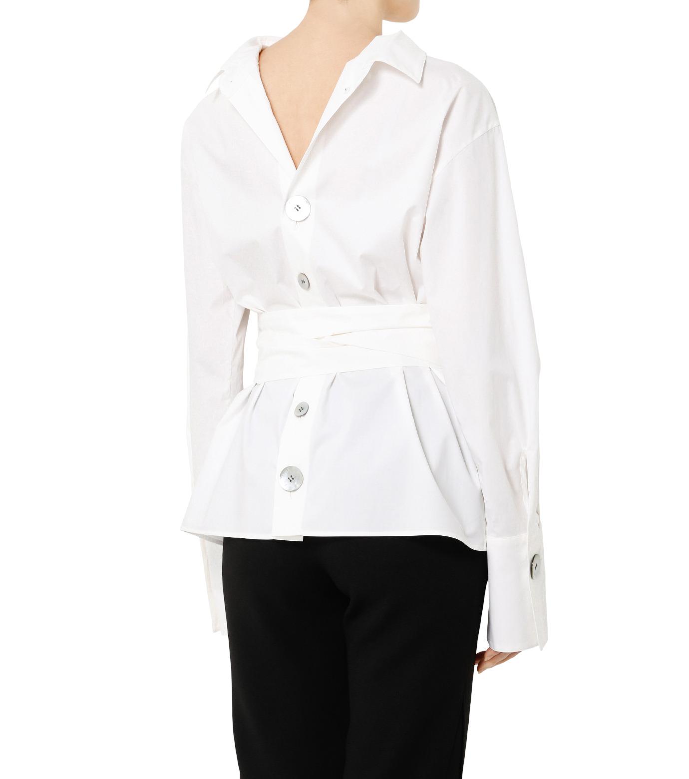 LE CIEL BLEU(ルシェルブルー)のバックオープンシャツ-WHITE(シャツ/shirt)-19S63103 拡大詳細画像5