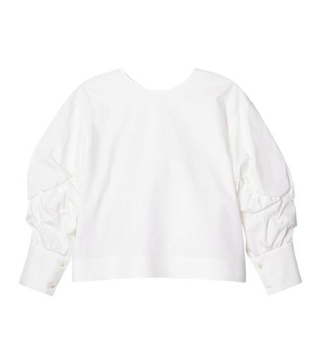 LE CIEL BLEU(ルシェルブルー)のタイプライターシュリンクスリーブトップス-WHITE(シャツ/shirt)-19S63104 詳細画像1