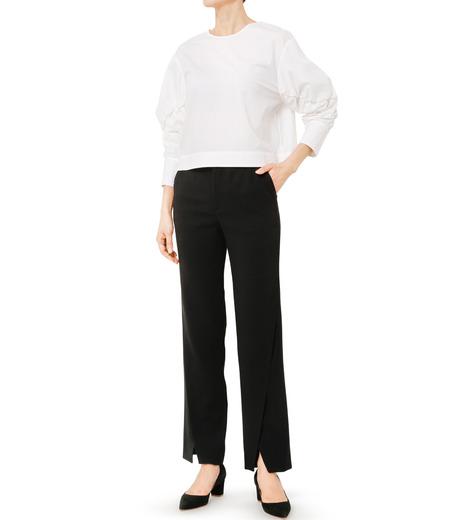 LE CIEL BLEU(ルシェルブルー)のタイプライターシュリンクスリーブトップス-WHITE(シャツ/shirt)-19S63104 詳細画像2