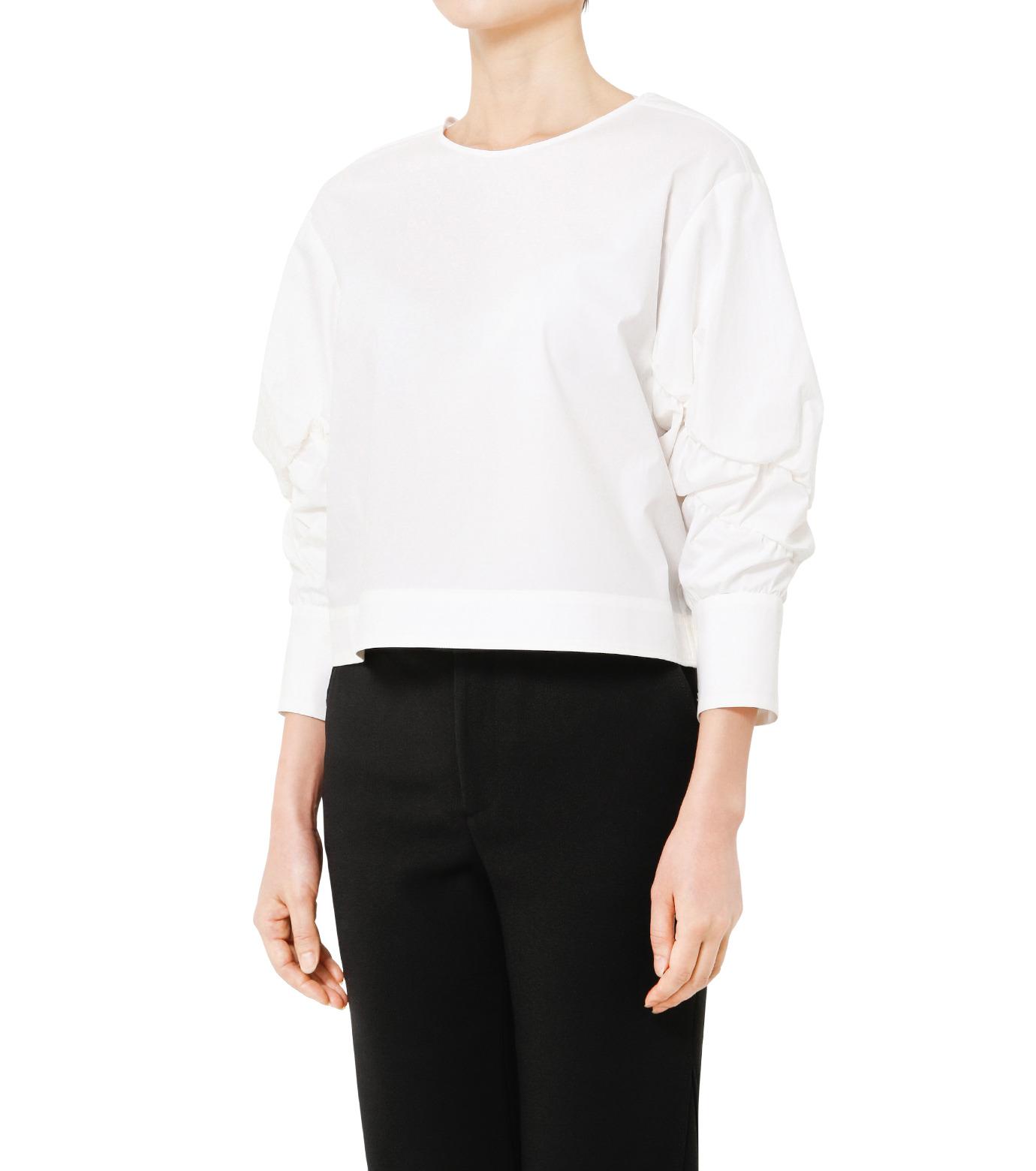 LE CIEL BLEU(ルシェルブルー)のタイプライターシュリンクスリーブトップス-WHITE(シャツ/shirt)-19S63104 拡大詳細画像3