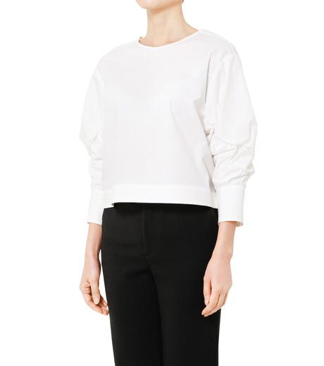 LE CIEL BLEU(ルシェルブルー)のタイプライターシュリンクスリーブトップス-WHITE(シャツ/shirt)-19S63104 詳細画像3