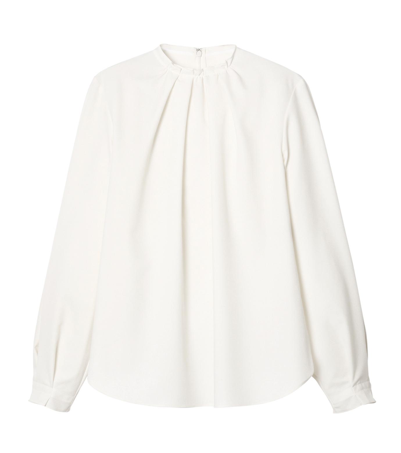 LE CIEL BLEU(ルシェルブルー)のミニマルパフスリーブトップス-WHITE(シャツ/shirt)-19S63108 拡大詳細画像1