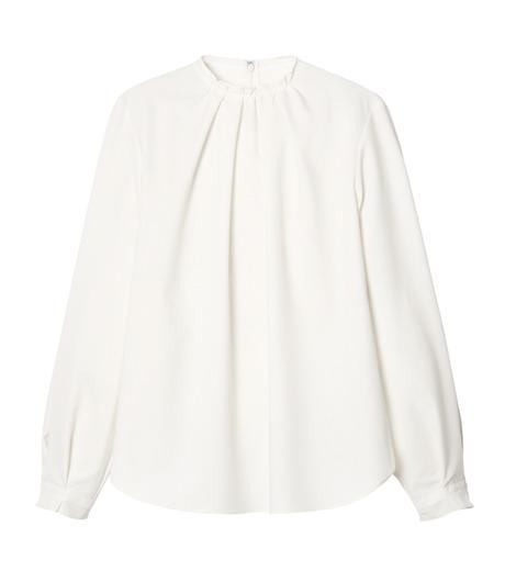 LE CIEL BLEU(ルシェルブルー)のミニマルパフスリーブトップス-WHITE(シャツ/shirt)-19S63108 詳細画像1