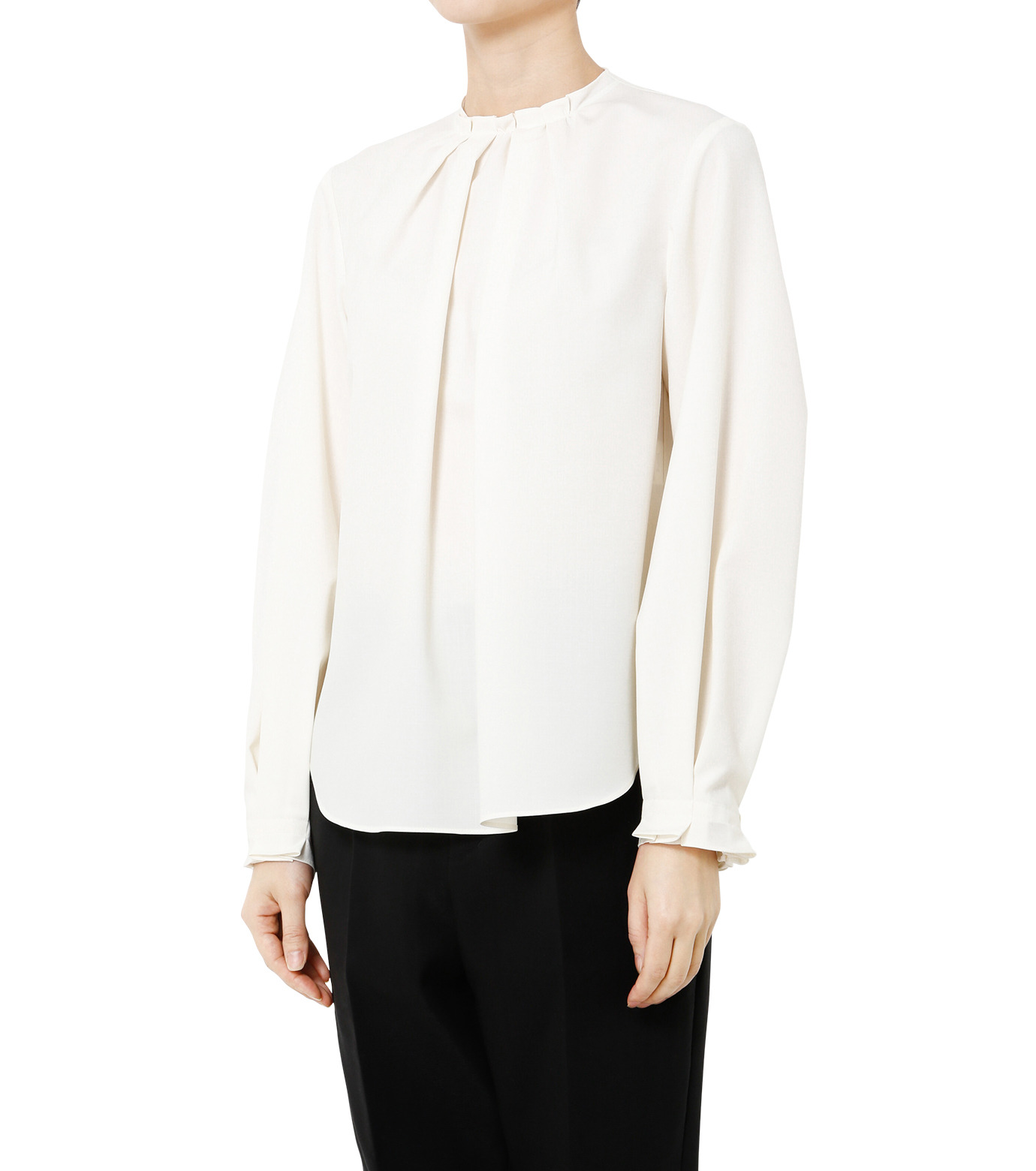 LE CIEL BLEU(ルシェルブルー)のミニマルパフスリーブトップス-WHITE(シャツ/shirt)-19S63108 拡大詳細画像3