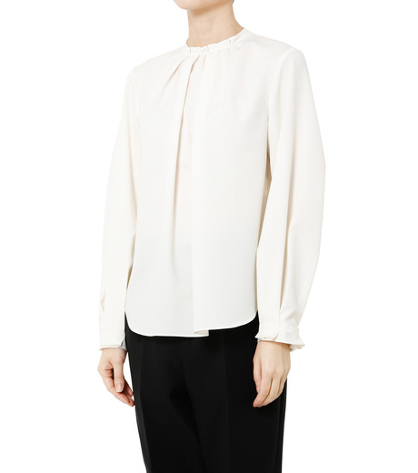 LE CIEL BLEU(ルシェルブルー)のミニマルパフスリーブトップス-WHITE(シャツ/shirt)-19S63108 詳細画像3