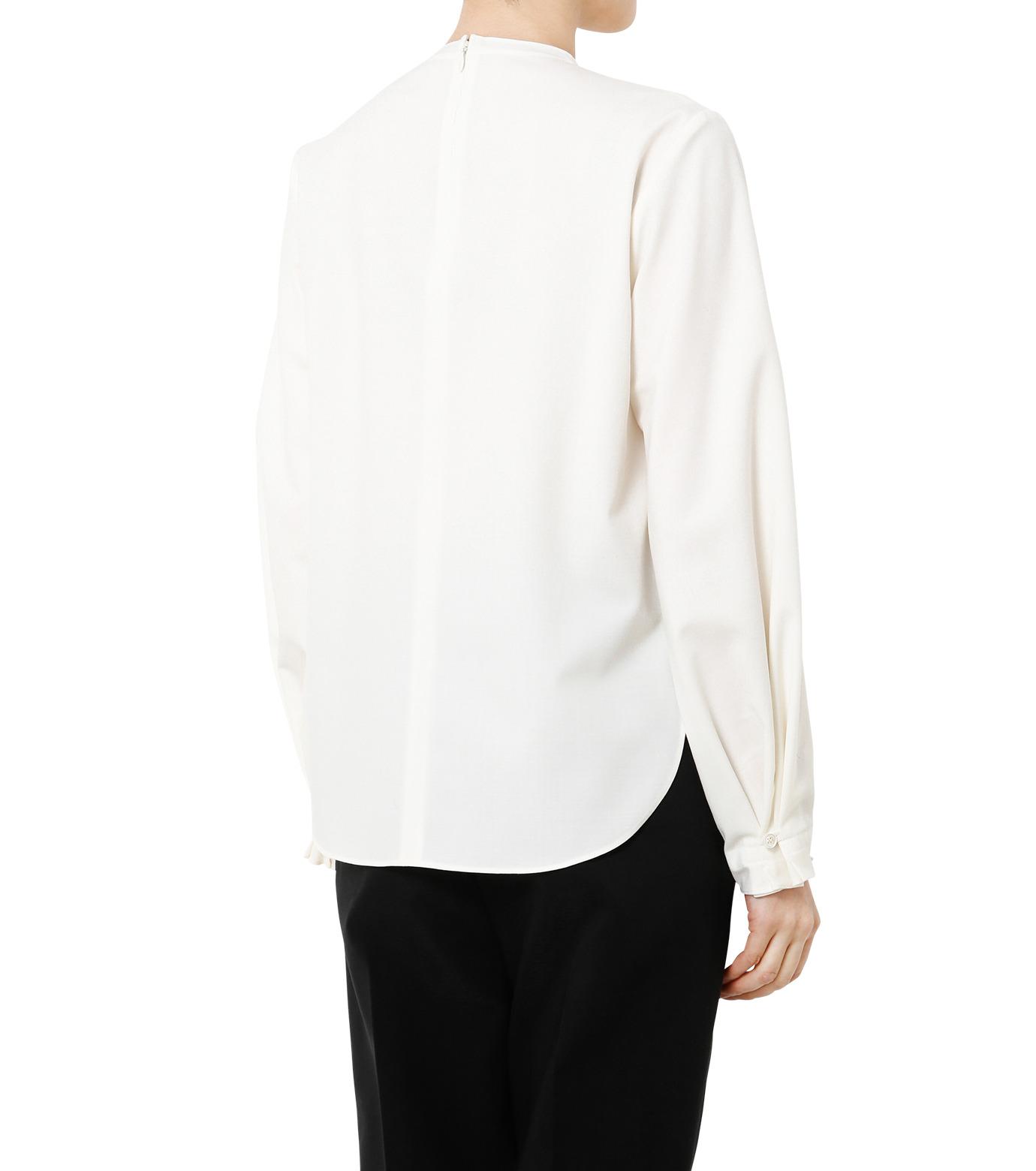 LE CIEL BLEU(ルシェルブルー)のミニマルパフスリーブトップス-WHITE(シャツ/shirt)-19S63108 拡大詳細画像4