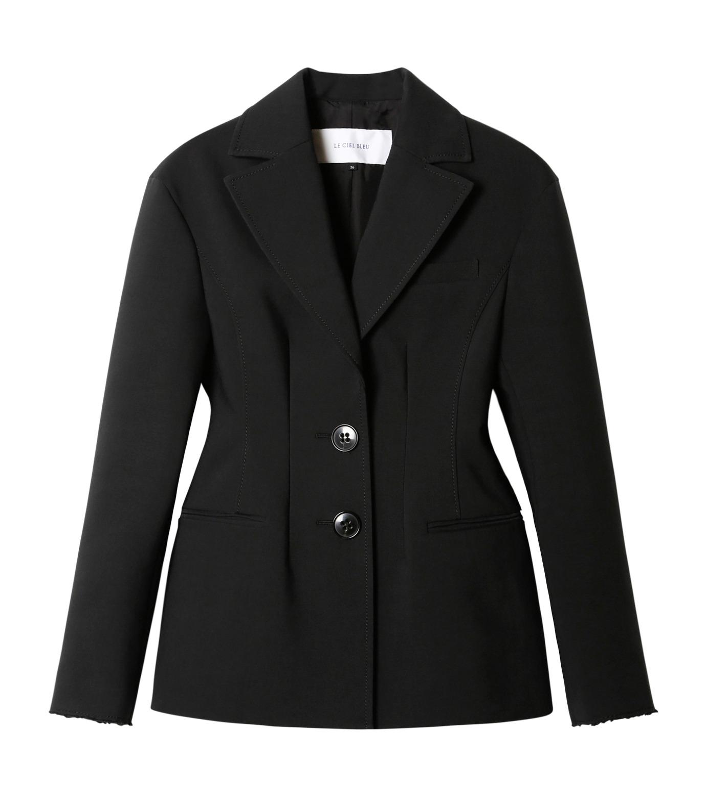 LE CIEL BLEU(ルシェルブルー)のデフォルメラインテーラージャケット-BLACK(ジャケット/jacket)-19S64103 拡大詳細画像1