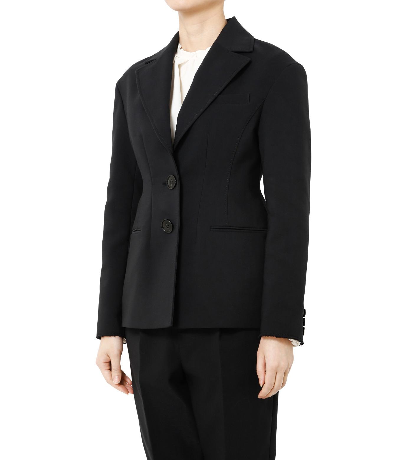 LE CIEL BLEU(ルシェルブルー)のデフォルメラインテーラージャケット-BLACK(ジャケット/jacket)-19S64103 拡大詳細画像3