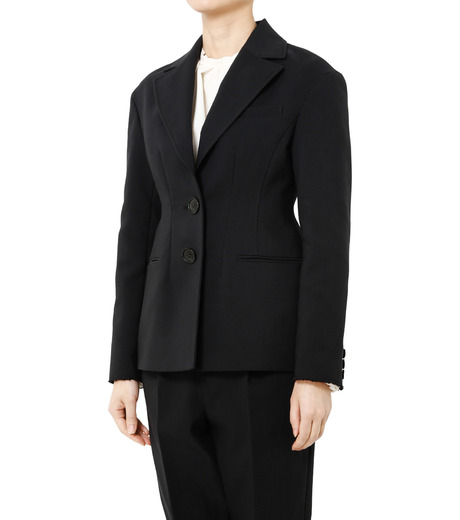 LE CIEL BLEU(ルシェルブルー)のデフォルメラインテーラージャケット-BLACK(ジャケット/jacket)-19S64103 詳細画像3
