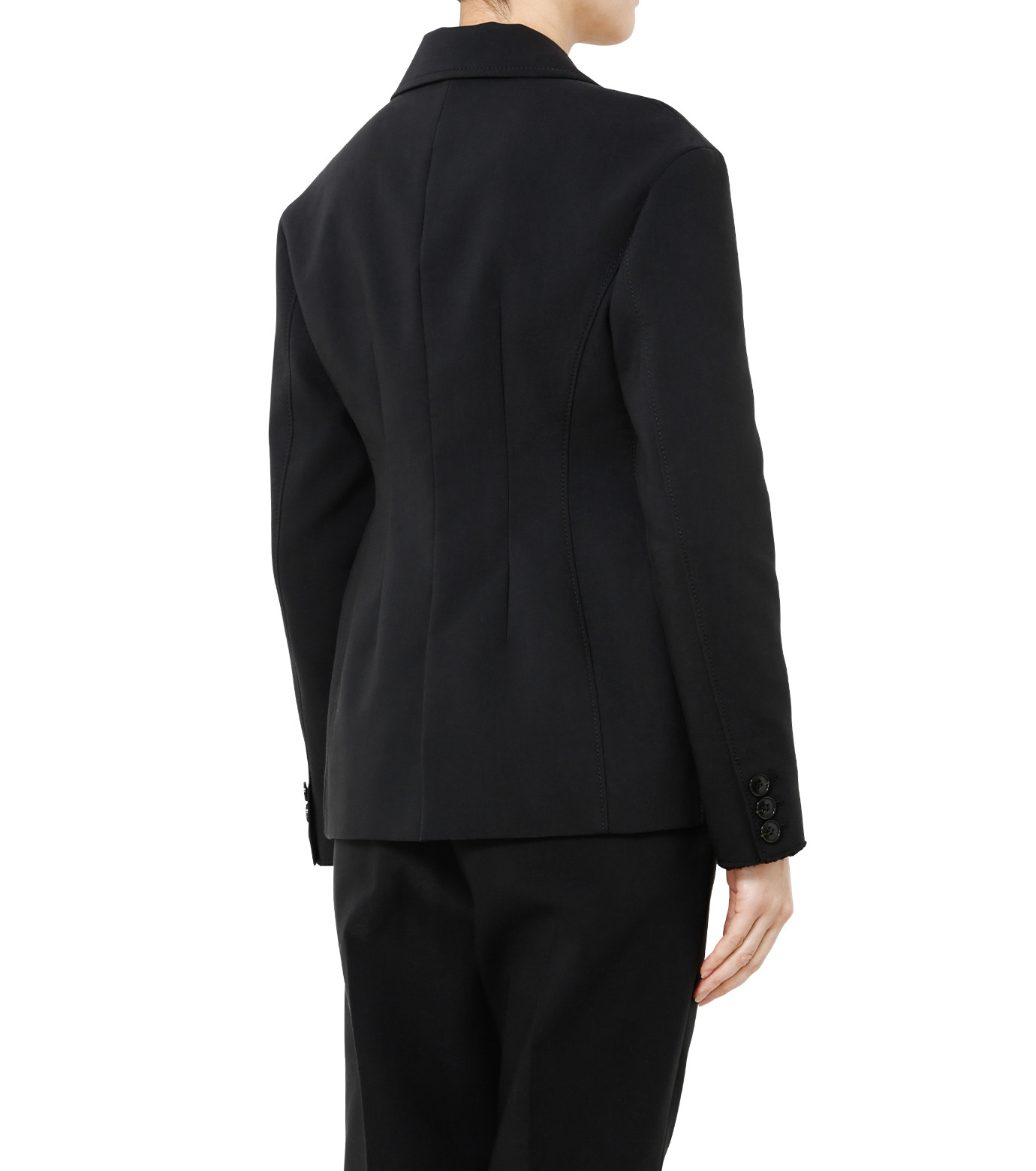 LE CIEL BLEU(ルシェルブルー)のデフォルメラインテーラージャケット-BLACK(ジャケット/jacket)-19S64103 拡大詳細画像4