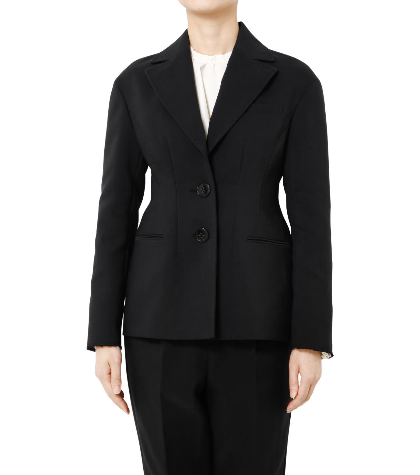 LE CIEL BLEU(ルシェルブルー)のデフォルメラインテーラージャケット-BLACK(ジャケット/jacket)-19S64103 拡大詳細画像5