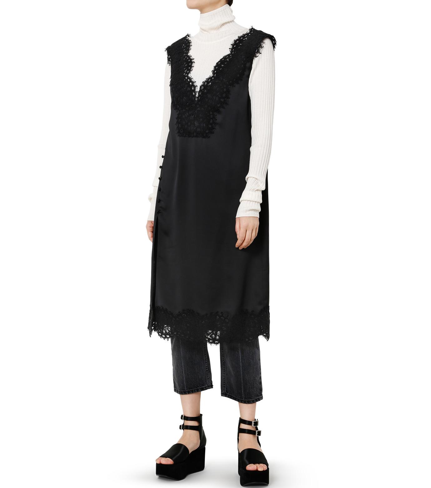 LE CIEL BLEU(ルシェルブルー)のランジェリーレースドレス-BLACK(ドレス/dress)-19S65101 拡大詳細画像2