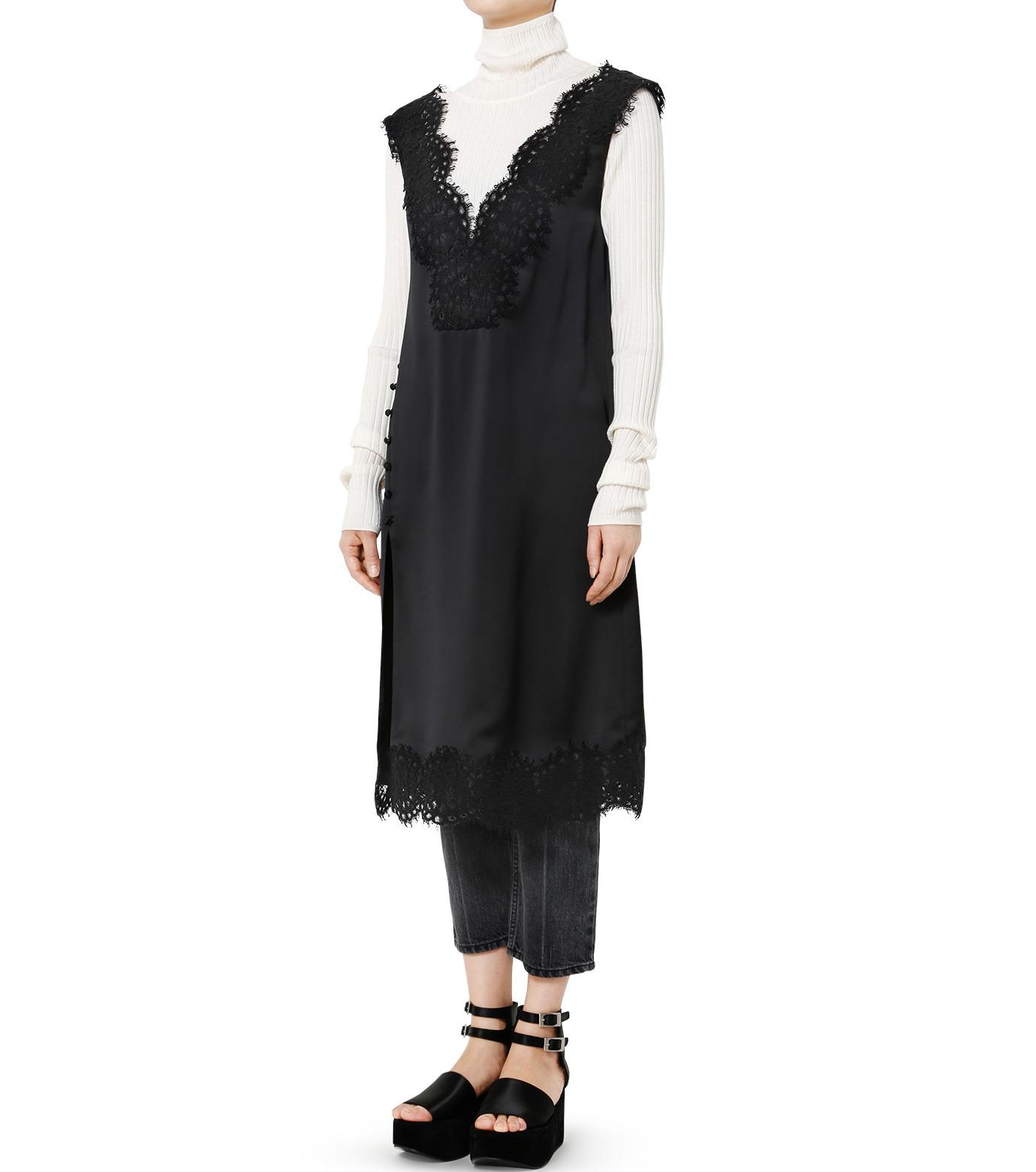 LE CIEL BLEU(ルシェルブルー)のランジェリーレースドレス-BLACK(ドレス/dress)-19S65101 拡大詳細画像3