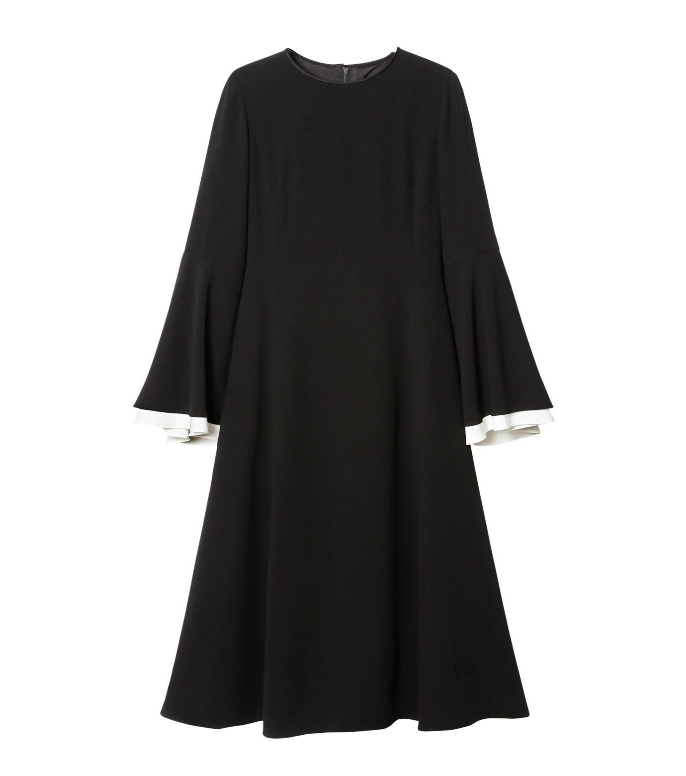 LE CIEL BLEU(ルシェルブルー)のW フレアスリーブドレス-BLACK(ドレス/dress)-19S65103 拡大詳細画像1