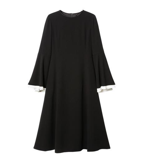 LE CIEL BLEU(ルシェルブルー)のW フレアスリーブドレス-BLACK(ドレス/dress)-19S65103 詳細画像1