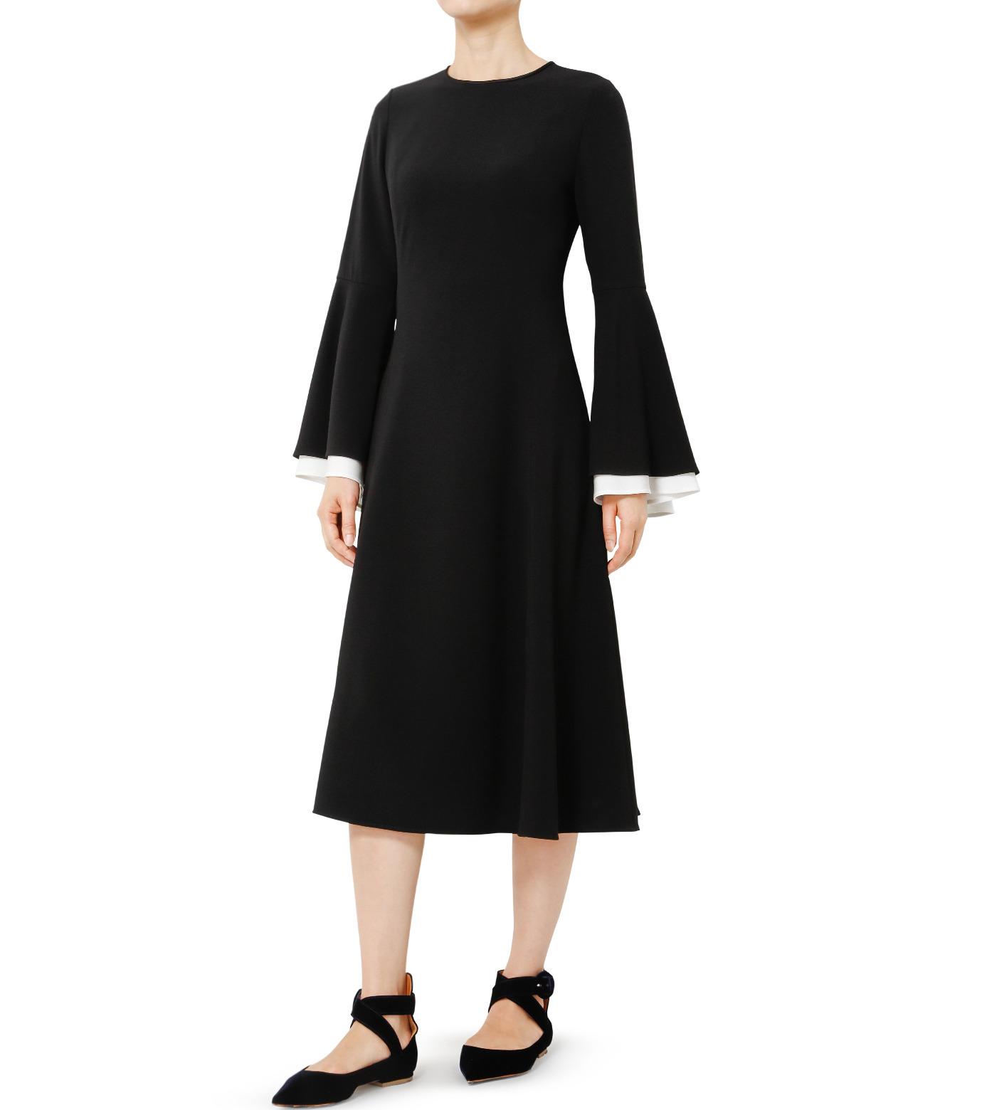 LE CIEL BLEU(ルシェルブルー)のW フレアスリーブドレス-BLACK(ドレス/dress)-19S65103 拡大詳細画像2