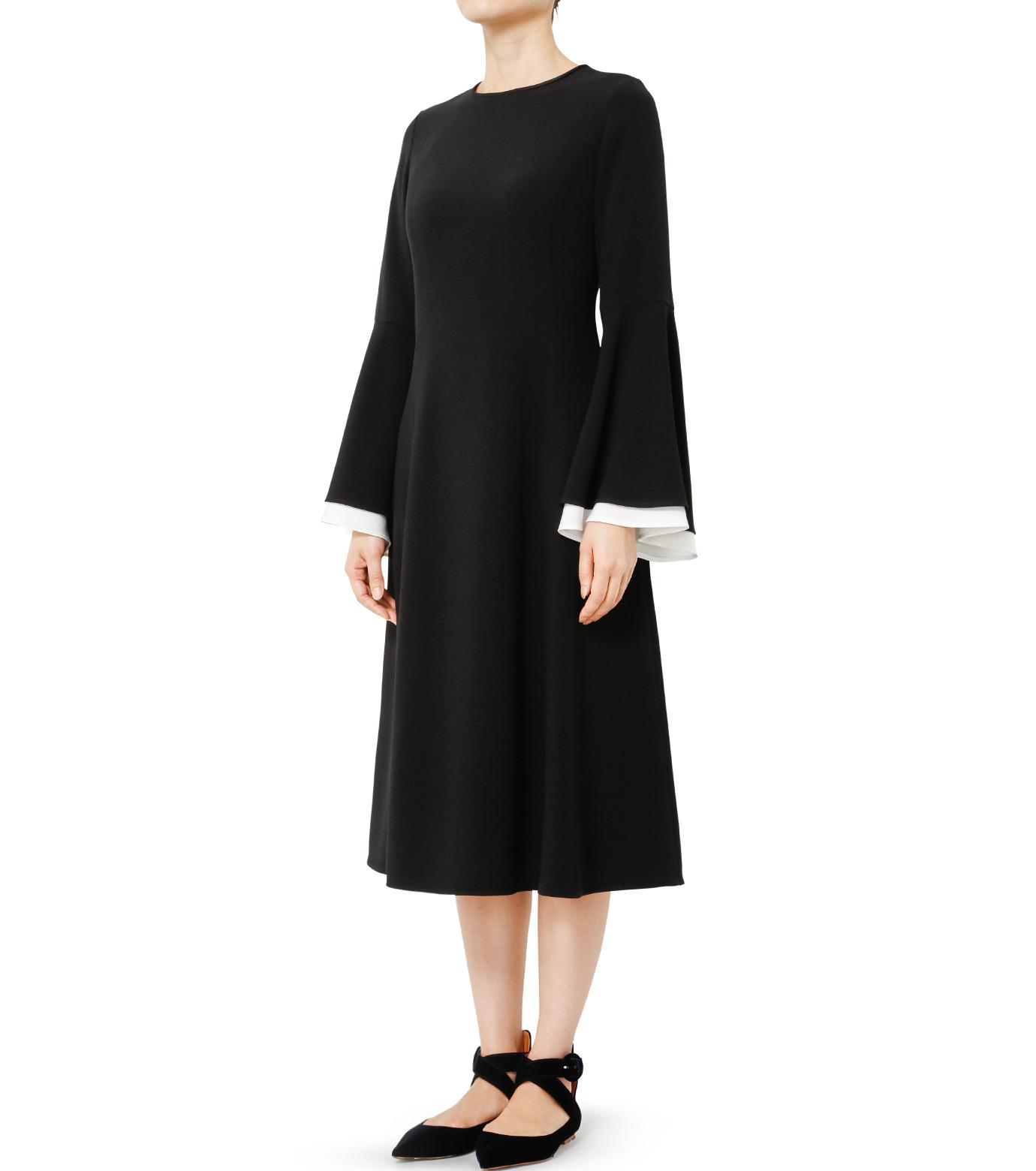 LE CIEL BLEU(ルシェルブルー)のW フレアスリーブドレス-BLACK(ドレス/dress)-19S65103 拡大詳細画像3